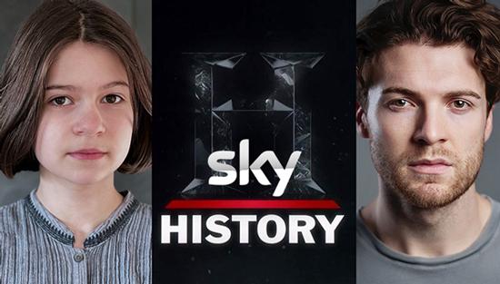 Chris Hoskins and Nina Marlin - Sky History Royal Bastards