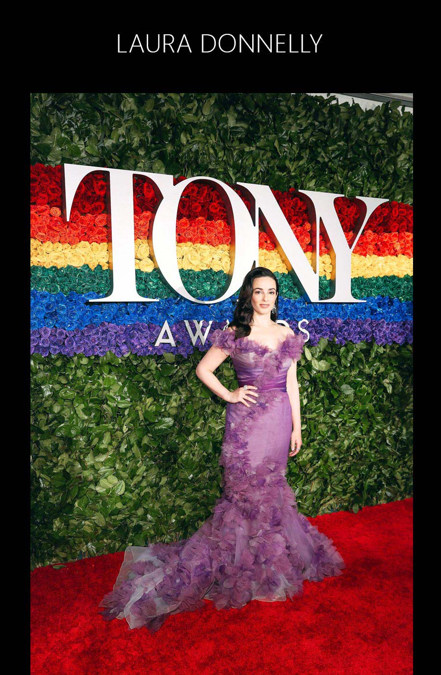 Laura Donnelly at the 2019 Tony Awards with Best Actress Nomination